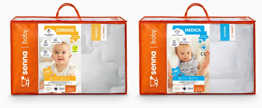 Kołderki dla dzieci naturalne Corneo i antyalergiczne Medico INTER-WIDEX